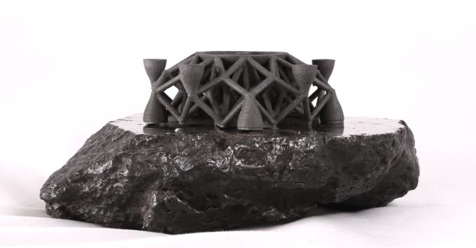 オブジェと隕石