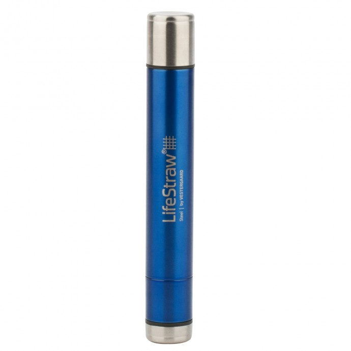 LifeStraw Steel Personal Water Filter with Two-Stage Carbon Filtration