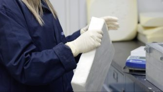 Ford Motor Company is the first automaker to formulate and test new foam and plastic components using carbon dioxide as feedstock. Researchers expect to see the new biomaterials in Ford production vehicles within five years. Formulated with up to 50 percent CO2-based polyols, the foam is showing promise as it meets rigorous automotive test standards. It could be employed in seating and underhood applications, potentially reducing petroleum use by more than 600 million pounds annually – enough to fill nearly 35,000 American homes. CO2-derived foam will further reduce the use of fossil fuels in Ford vehicles and increase the presence of sustainable foam in the automaker's global lineup.
