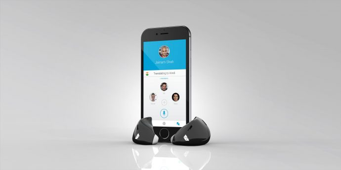 Earpieces and app - black