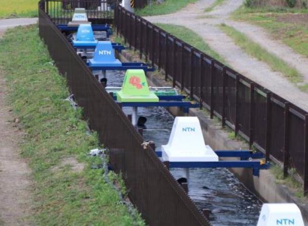 水路に設置された発電機