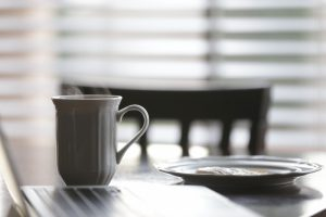 coffee-cup-plate-table-breakfast-chair-morning