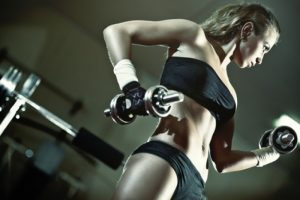 young-woman-weight-training